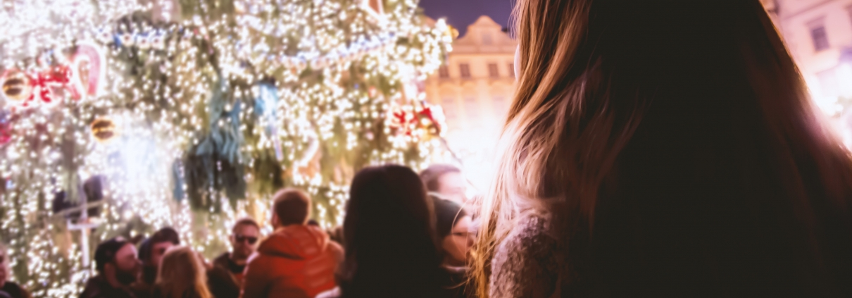 Woman feeling stress, anxiety, and depression around the holidays