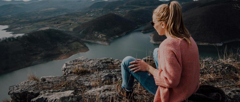 Woman enjoying nature in Wisconsin