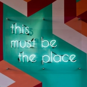 'This must be the place' sign